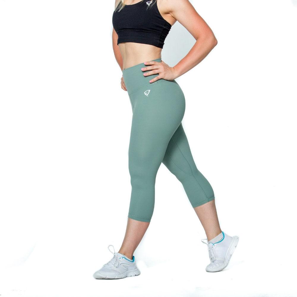 Fitness Junkies Leggings: ZÖLD CANDY 3/4-es LEGGINGS